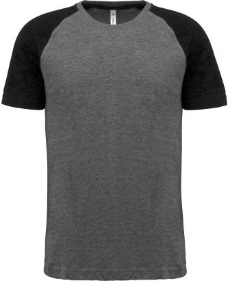 T-shirt manches courtes sport Triblend bicolore PA4010 - Grey Heather / Black Heather