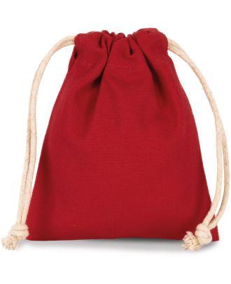 Sac coton à cordon 13 x 15 cm KI0748 - Cherry Red