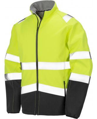 Veste softshell haute visibilité R450X - Fluorescent Yellow / Black