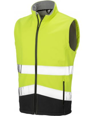 Gilet softshell haute visibilité R451X - Fluorescent Yellow / Black