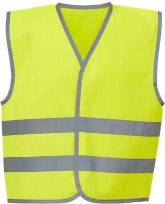 Gilet enfant avec bordures et bandes réfléchissantes YHVW102CH - Hi Vis Yellow