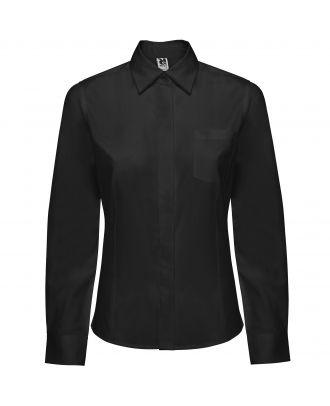 Chemise femme manches longues SOFIA L/S noir