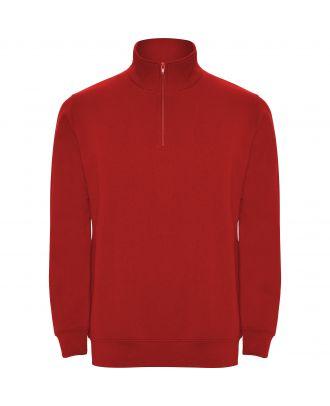 Sweat-shirt homme demi zip ANETO rouge