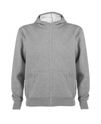 Sweat-shirt capuche avec fermeture éclair MONTBLANC gris chiné