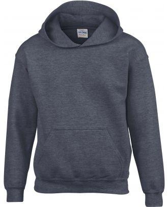 Sweat-shirt enfant à capuche Heavy Blend™ 18500B - Dark Heather
