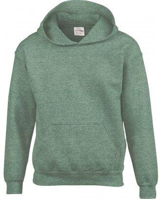 Sweat-shirt enfant à capuche Heavy Blend™ 18500B - Heather Sport Dark Green