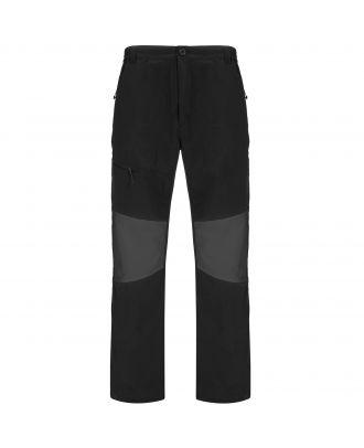 Pantalon coupe vent slim ELIDE noir / plomb foncé