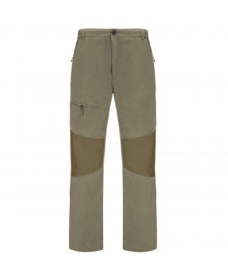 Pantalon coupe vent slim ELIDE gris brouillard / camel