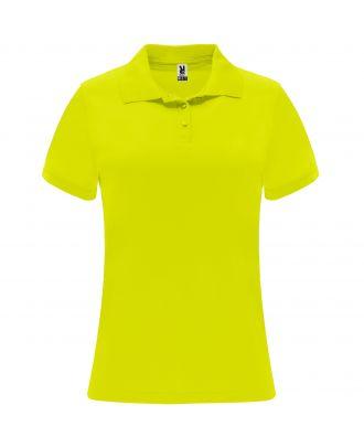 Polo manches courtes MONZHA WOMAN jaune fluo