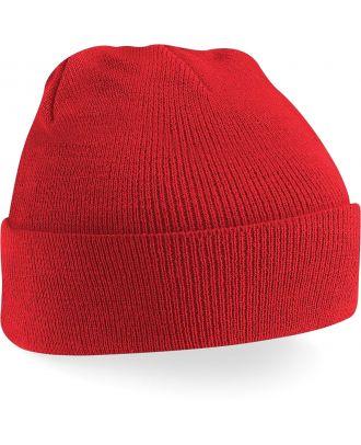 Bonnet original à revers B45 - Bright Red-One Size