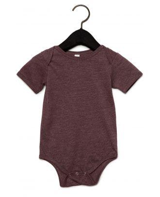 Body manches courtes bébé - Heather Maroon