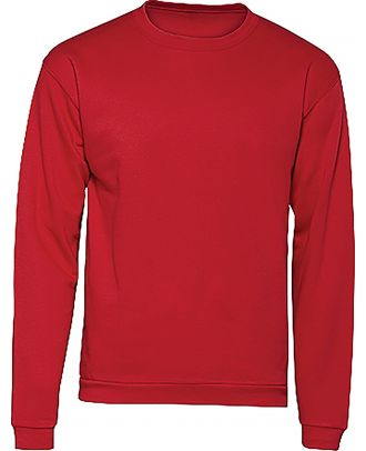 Sweatshirt col rond ID.202 WUI23 - Red de face