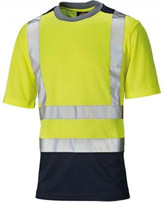 T-shirt haute visibilité bicolore DSA22081 - Yellow / Navy