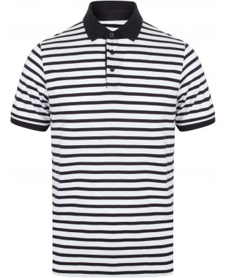 Polo jersey à rayures FR230 - White / Navy