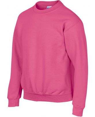 Sweat-shirt enfant col rond heavy blend 18000B - Safety Pink