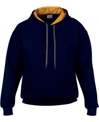 Sweat-shirt homme à capuche zippé 185C00 - Navy / Gold