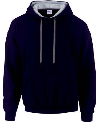 Sweat-shirt homme à capuche zippé 185C00 - Navy / Sport grey