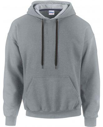 Sweat-shirt homme à capuche zippé 185C00 - Sport grey / Black