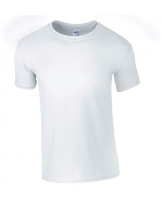 T-shirt homme col rond softstyle 6400 - White de face
