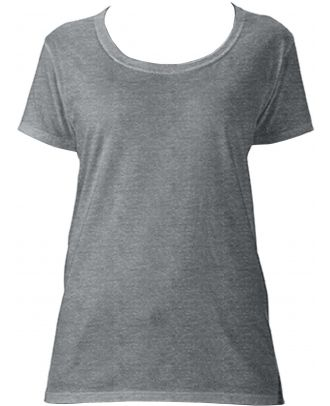 T-shirt femme Softstyle® Deep Scoop 64550L - Graphite Heather
