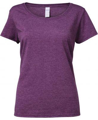 T-shirt femme Softstyle® Deep Scoop 64550L - Heather Aubergine