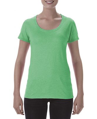 T-shirt femme Softstyle® Deep Scoop 64550L - Heather Irish Green
