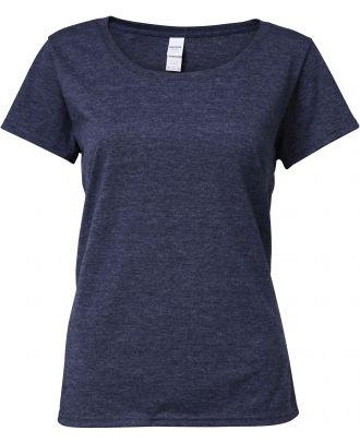 T-shirt femme Softstyle® Deep Scoop 64550L - Heather Navy