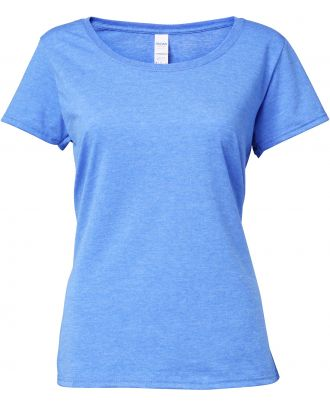 T-shirt femme Softstyle® Deep Scoop 64550L - Heather Royal