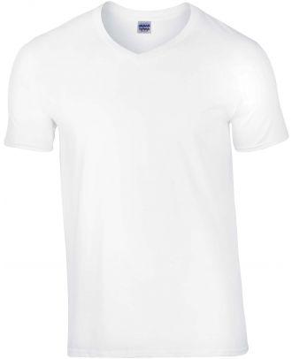 T-shirt homme col V Softstyle GI64V00 - White