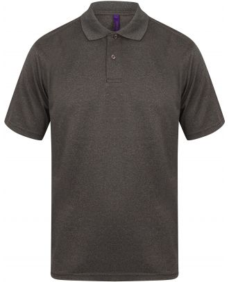 Polo homme Coolplus H475 - Heather Charcoal