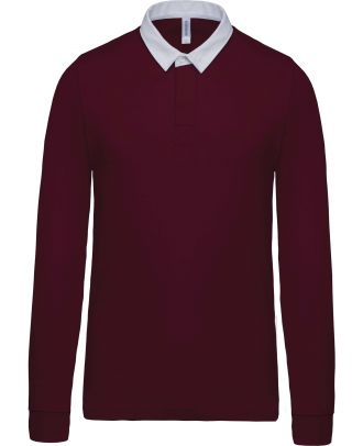 Polo rugby K213 - Wine / White