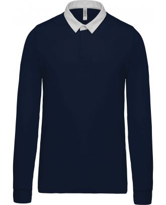 Polo enfant rugby K214 - Navy / White