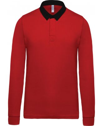 Polo enfant rugby K214 - Red / Black