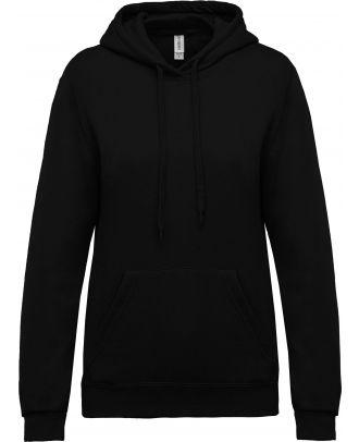 Sweat-shirt femme à capuche K473 - Black
