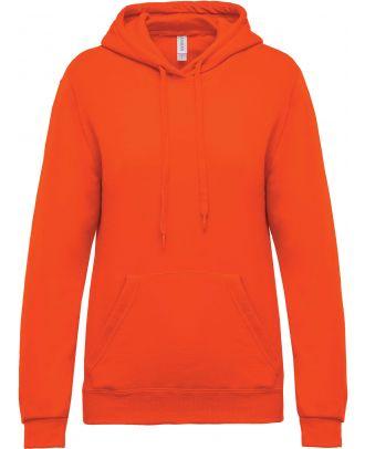 Sweat-shirt femme à capuche K473 - Orange