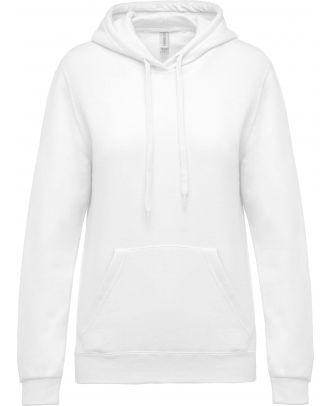 Sweat-shirt femme à capuche K473 - White