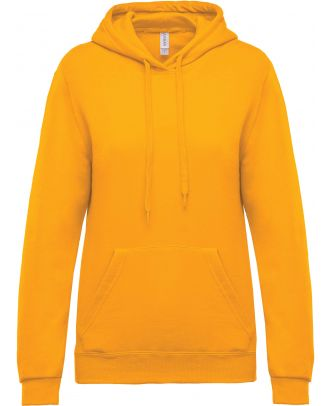 Sweat-shirt femme à capuche K473 - Yellow
