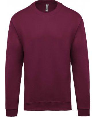 Sweat-shirt unisexe col rond K474 - Wine