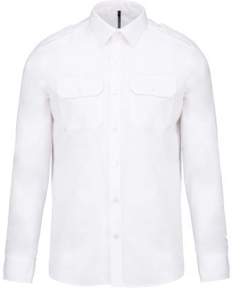 Chemise manches longues homme pilote K505 - White