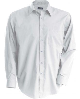 Chemise manches longues enfant popeline K521 - White