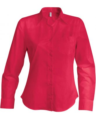 Chemise manches longues femme Jessica K549 - Classic Red