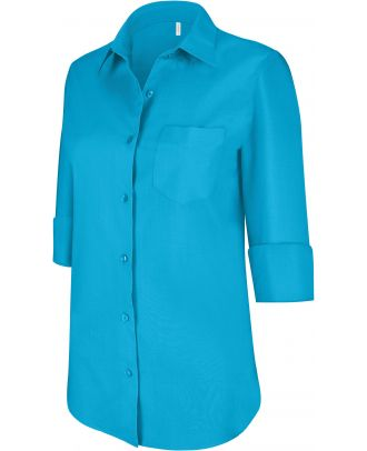 Chemise manches 3/4 femme K558 - Bright Turquoise