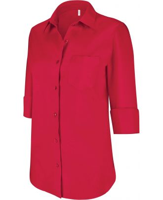 Chemise manches 3/4 femme K558 - Classic Red