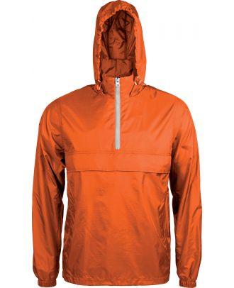 Coupe vent 1/4 zip K602 - Orange / White