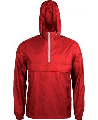 Coupe vent 1/4 zip K602 - Red / White