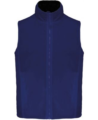 Bodywarmer doublé polaire Record K679 - Light Royal Blue / Black
