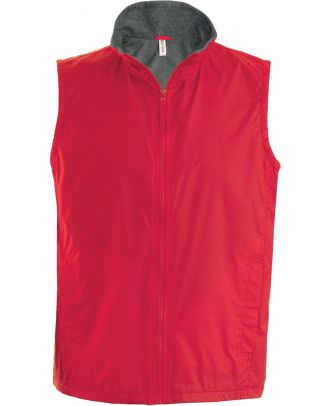 Bodywarmer doublé polaire Record K679 - Red / Grey