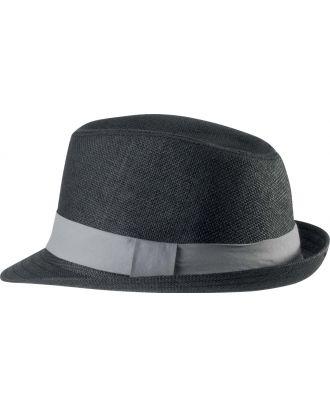 Chapeau en fibre végétale KP608 - Black / Grey