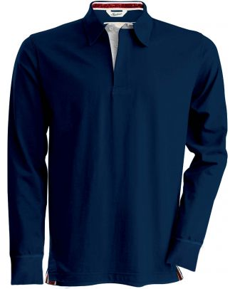 Polo rugby vintage manches longues KV2202 - Vintage Navy