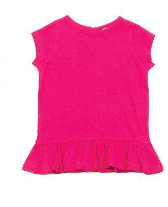 T-shirt bébé fillette à volants LW026 - Fuchsia
